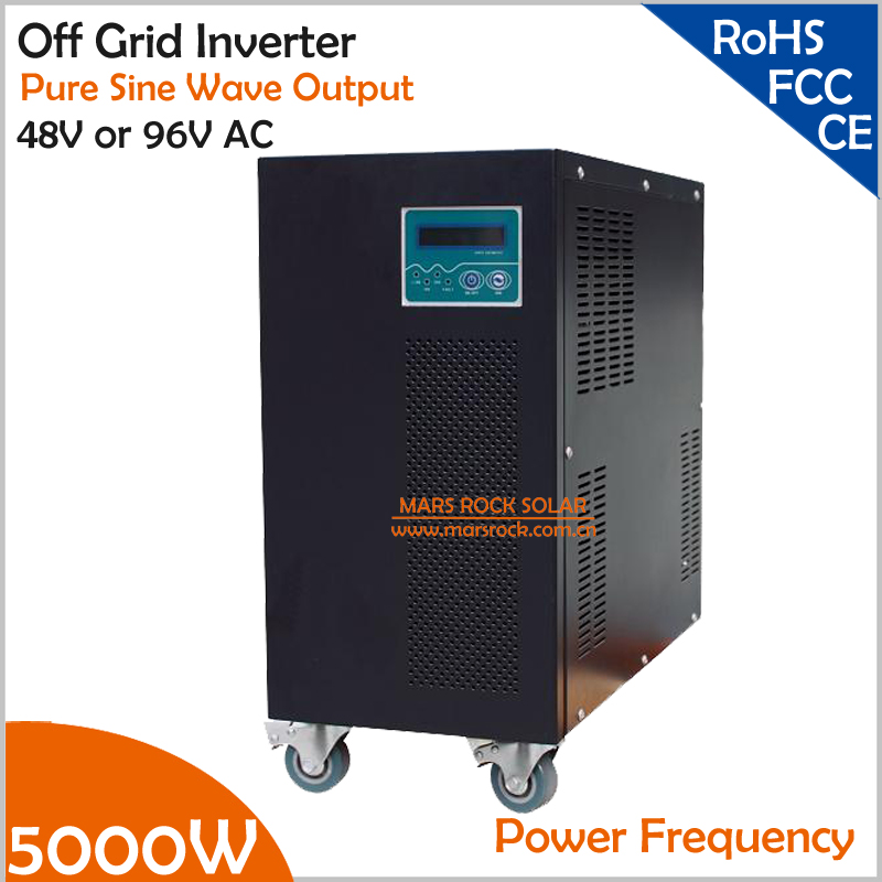 Power Frequency 5000W 48V or 96V DC to AC 110V or 220V Pure Sine Wave Off Grid Inverter with City Grid Charge Function solar power on grid tie mini 300w inverter with mppt funciton dc 10 8 30v input to ac output no extra shipping fee