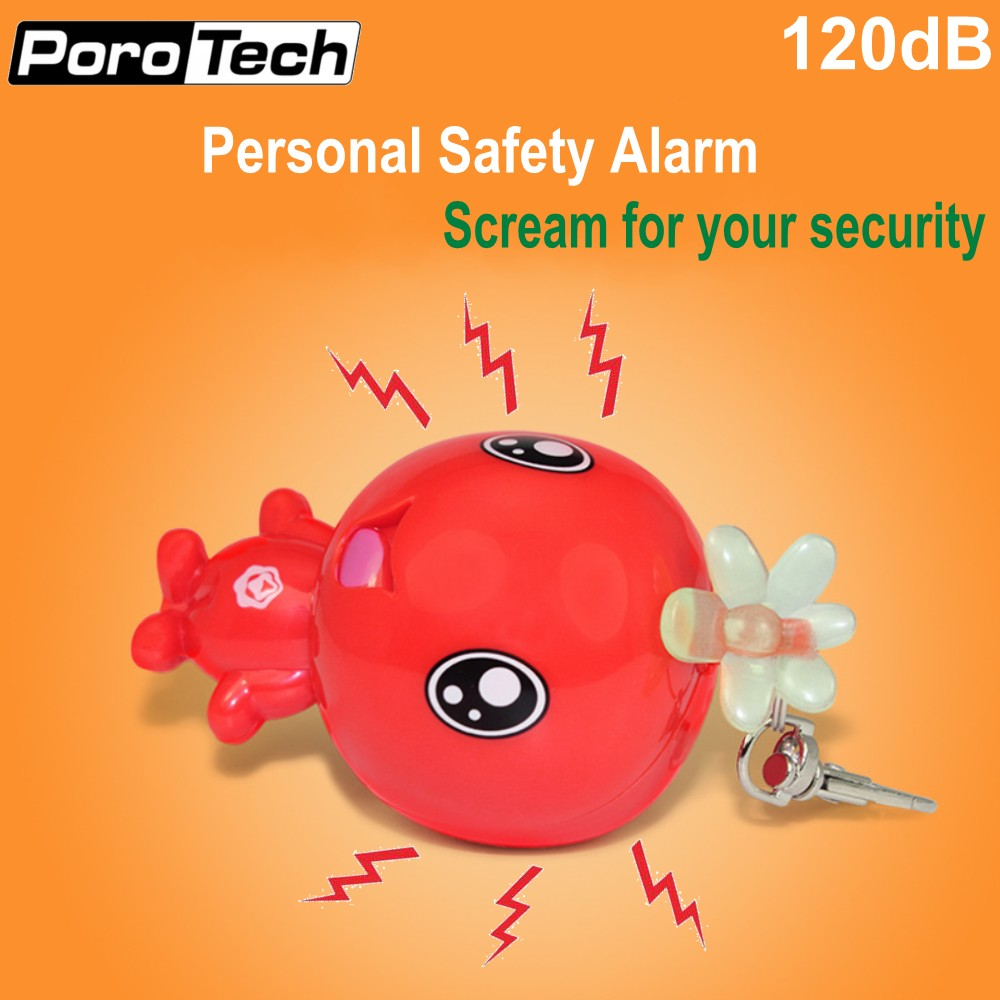 2018 New Model Self Defense Alarm Personal Keychain Alarm 120dB Anti-wolf Anti-Attack Alarm For Women Girls Students Kids