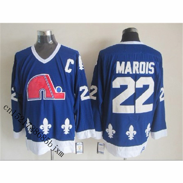 cf07bd59639 Mens Retro 1986 Quebec Nordiques Mario Marois Stitched Name&Number  Throwback Hockey Jersey