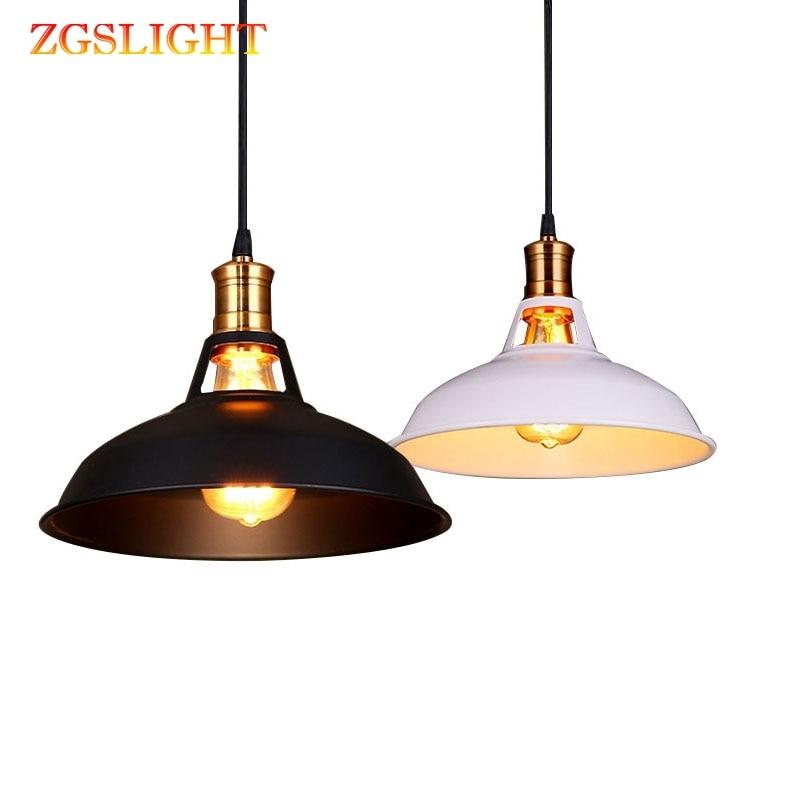 Iron Pendant Lamp Industrial Vintage Dia 27cm Edison LED Bulb Restaurant/Bar/Coffee/Bed Room Retro American Iron Pendant Light