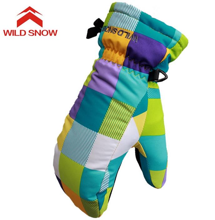 Vahşi kar Çocuk Kadın Kayak Eldivenler Snowboard Eldivenler Kış - Spor Giyim ve Aksesuar
