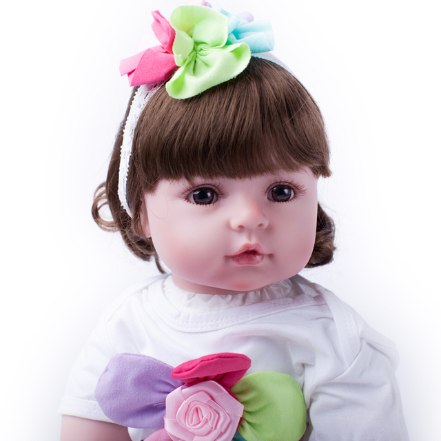 55cm Soft Silicone Reborn Baby Princess Doll Toy Newborn Girl Baby Collectable Princess Toddler Doll Birthday