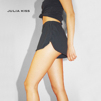 black womens loose shorts casual