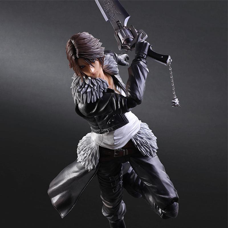 Play Arts Kai Final Fantasy VIII Squall Leonhart Variant Figure Varable Squall Gunblade PVC Action Figures Toy Brinquedos (5)