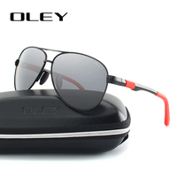 OLEY Men Classic Pilot Sunglasses Original Brand Designer Sun Glasses Man Women Polaroid Gafas De Sol
