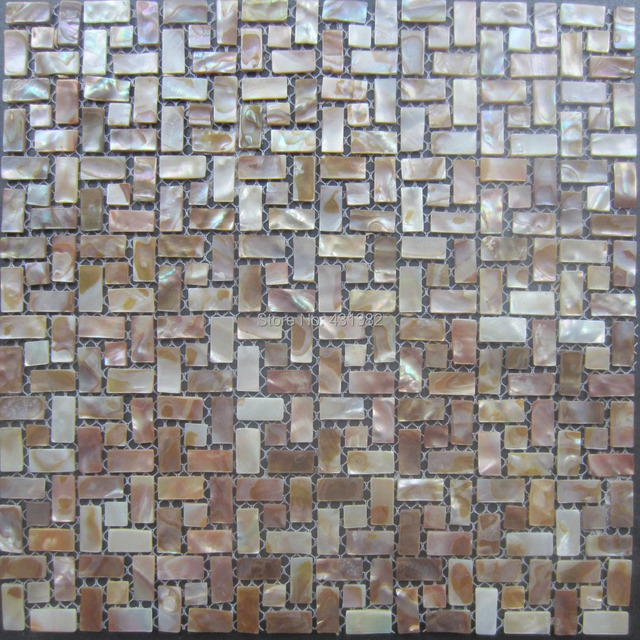 Kitchen Tile Background aliexpress : buy shell mosaic tile; mother of pearl tiles
