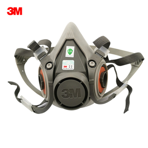 Image 1 - 3M 6200 Half Face Gas Mask Respirator Organic Gas Protection Dust Mask Anti Haze Painting Spraying Industrial Dust Proof Protect