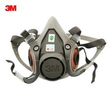 Противогаз 3M 6200, полумаска, респиратор, Органическая противогаз, Пылезащитная маска, Пылезащитная маска, Пыленепроницаемая краска, распыление, промышленная защита от пыли