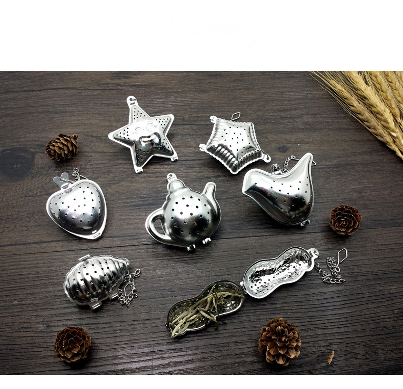 1PC Stainless Steel Sphere Locking Spice Tea Ball Strainer Mesh Infuser tea strainer Filter Infusor Mesh Herbal Ball PD 002 in Tea Strainers from Home Garden