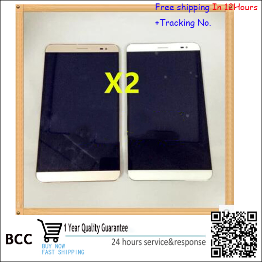 In stock Test ok!Whiteor gold LCD Display +Touch Screen Digitizer Assembly For Huawei honor X2  with frame free shipping vibe x2 lcd display touch screen panel with frame digitizer accessories for lenovo vibe x2 smartphone white free shipping track