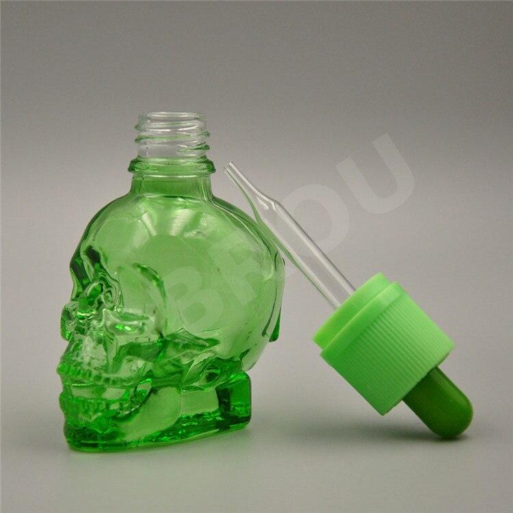 hot sale Free shipping e liquid 30ML skull glass bottles CRC & temper-evident Cap With dropper Tip, Dropper Bottles E-cigarette liqua pineapple flavor 3mg 30ml e juice
