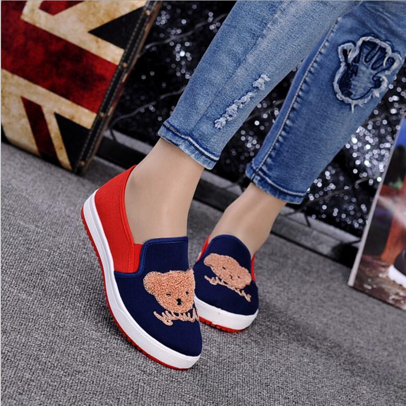 The Shows Occasionnels Nouvelle Femme Chaussures Coréenne Picture Ronde Automne Bas Simples as Pour Mickey 2018 Toile Plat Aider Shows Femelle As wU1Sqan