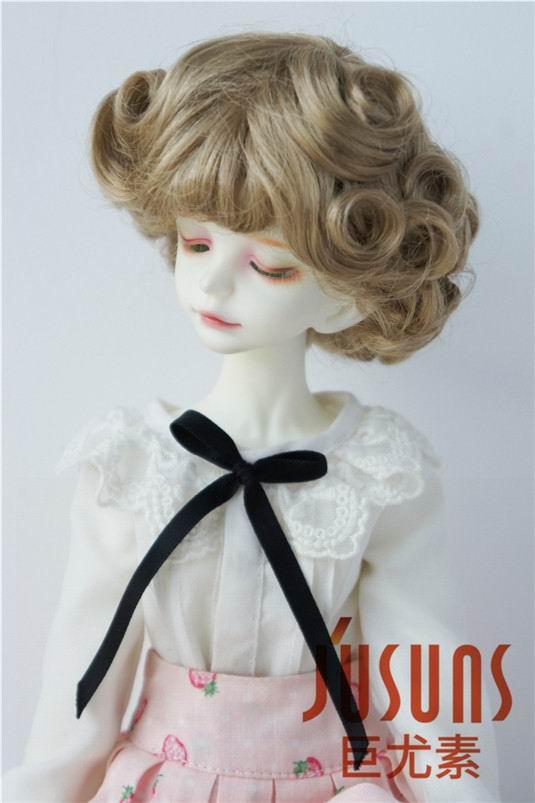 JD369 1/4 MSD парики для шарнирных кукол модный кудрявый парик 7-8 дюймов BJD синтетический, мохеровый, для куклы парики кукольные аксессуары