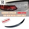 Spoiler en carbone pour mercedes-benz C200 C250 C300 C350 C63 AMG coupé 2 | W205 C200 C250 C300 C63 AMG coupé 2  porte 2015-2017  Spoiler de coffre et d'aile arrière en Fiber de carbone