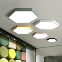 Led ceiling light Macaron Six sides Ultrathin Lamps Living room Children's room Modern Simple Creative Bedroom Color