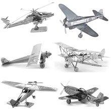 Мальчика/взрослых истребитель вертолеты ранние tangram самолет металлические головоломки развивающие модель игрушки