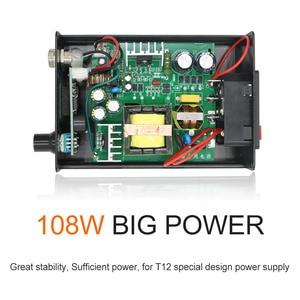 Image 2 - Station de soudage avec panneau crylique STC T12 956 OLED, outil de soudage électronique avec poignée 907