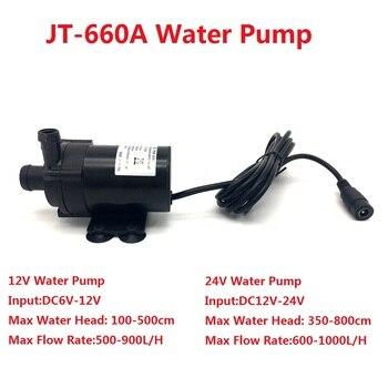 660A DC 12V 24V zatapialne pompa wodna 1000L/H maksymalne natężenie przepływu bezszczotkowy pompa wodna cyrkulacyjna