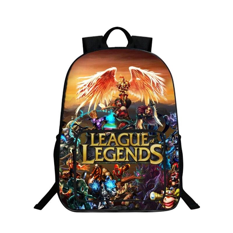 BAOBEIKU Hot Sale 3D Backpacks League of Legends Printing Cool Children SchoolBags For Girls Boys Men Book Bag Kids Bags New