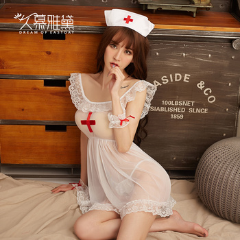 c10af1f64f34 DRAIMIOR Sexy enfermera uniforme COSPLAY tentación disfraces eróticos  lencería Sexy productos sexuales juego de rol Babdydoll vestido NJY0035