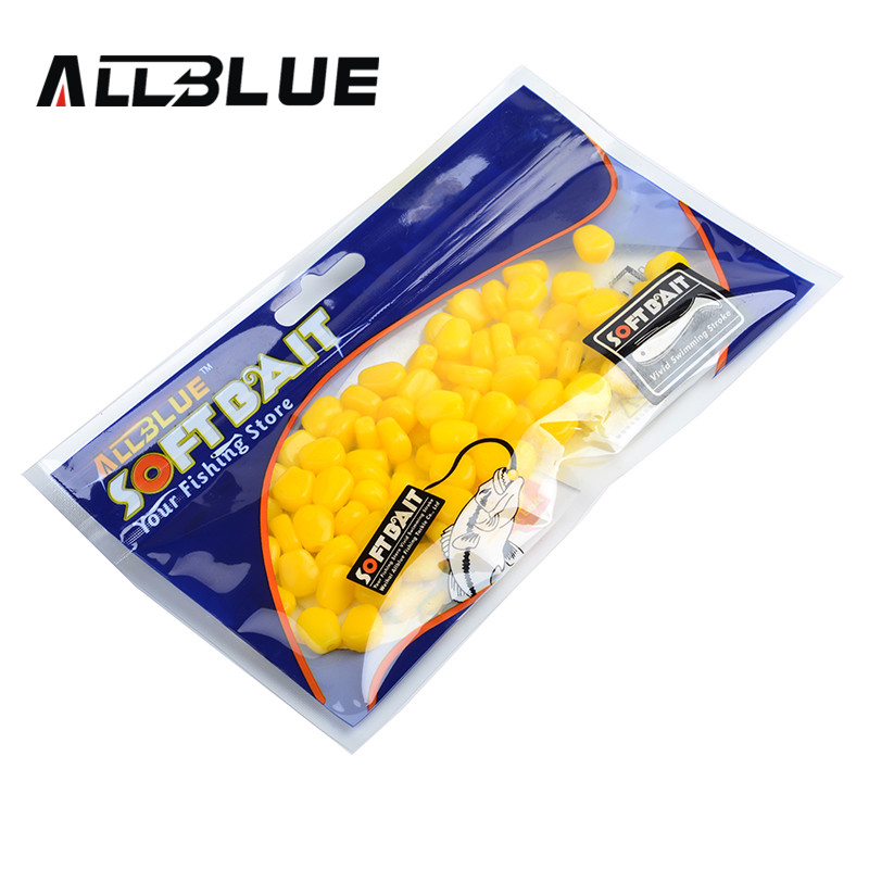 ALLBLUE Essential New 80pcs/lot Fake Soft Lures Floating Corn Good Quality Fishing Lure Bait Carp Fishing