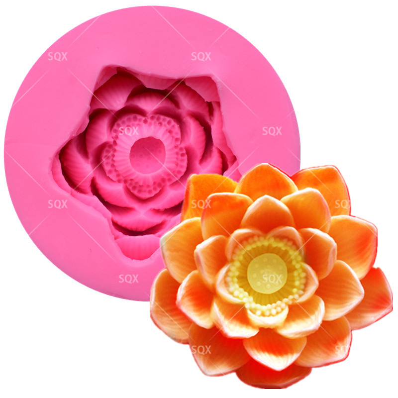 3D lotus Gâteau Moules À Gâteaux, Moule En Silicone, Outils De Décoration De Gâteau Outils de Pâtisserie Cuisine AccessoriesSQ16298