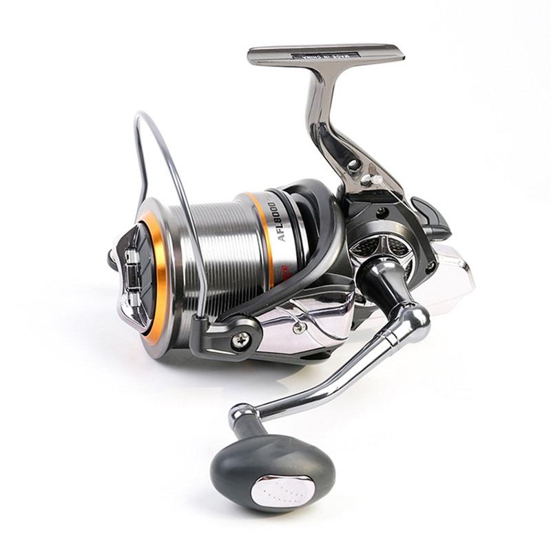 цены Hot wheels fish spinning reel Big Full Metal Body size 8000 10000 12000 Classic Style carretilhas de pescaria fishing reel