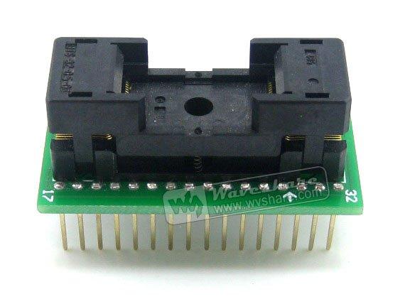 TSOP32 TO DIP32 (B) TSSOP32 Enplas IC Test Socket Programming Adapter 0.5mm Pitch fshh qfn32 to dip32 programmer adapter wson32 udfn32 mlf32 ic test socket size 3 2mmx13 2mm pin pitch 1 27mm