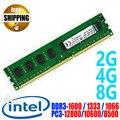 Марка ПАМЯТИ DDR3 1600 1333 1066 МГц/PC3-12800 1600 МГц/DDR 3 PC3 12800 10600/2 ГБ 4 ГБ 8 ГБ Для Настольных ПК DIMM ОПЕРАТИВНОЙ Памяти Для INTEL