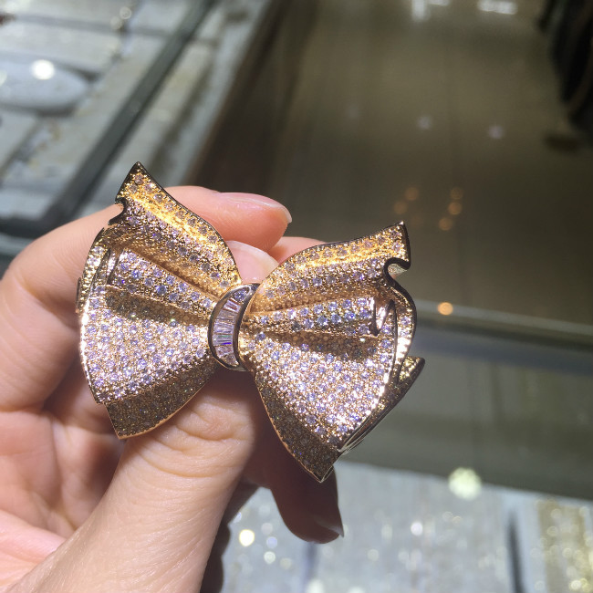 2015 new zircon Brooch bow jewelry clothing line styles, big European and American design женская рубашка european and american big 1715