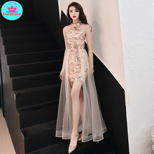 Golden little  dress female 2019 new queen gas field sexy short section thin birthday party banquet