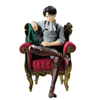 Attack On Titan Levi/Rivaille Sofa Sitting Posture Figure Anime Surrounding Collection Ornaments Kids Toy Gift