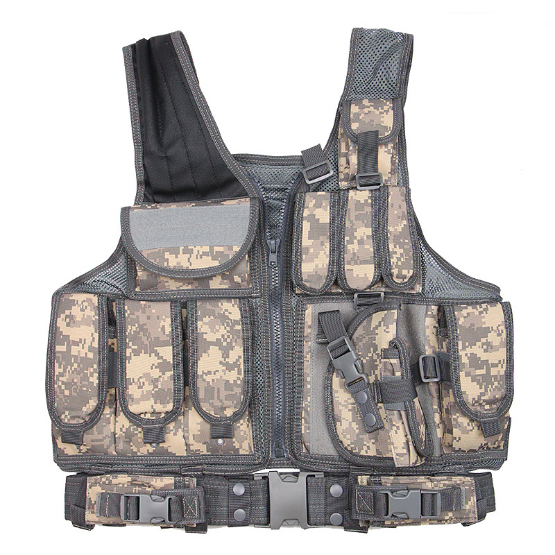 Tactical Vest Men Army Military Special Forces Combat Camo Vest Airsoft Paintball Waistcoat Army Swat Equipment Molle Uniform
