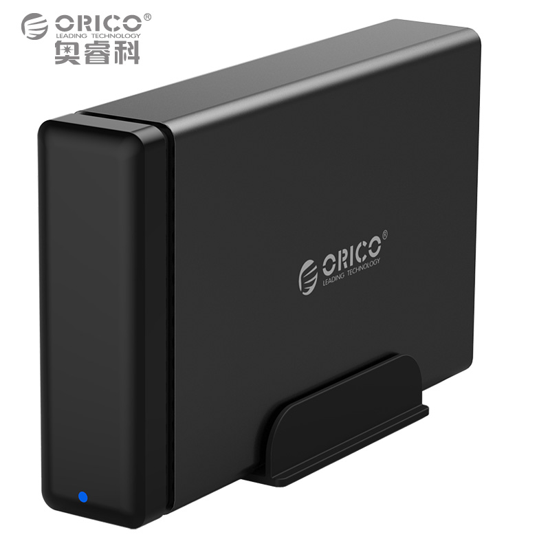 ORICO Type-C Aluminum Hard Drive HDD Dock Enclosure USB3.1 to SATA3.0 3.5 in HDD Case Support UASP 12V2A Power MAX 10TB Capacity sata usb 3 0 blue orange hdd case with 250g hard disk heating release rubber case 2 5 fast reading speed case