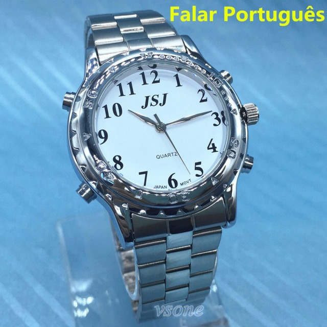 Portuguese Talking Watch Falar portugues for Blind People or Visually Impaired P