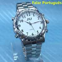 Portuguese Talking Watch Falar portugues for Blind People or Visually Impaired People