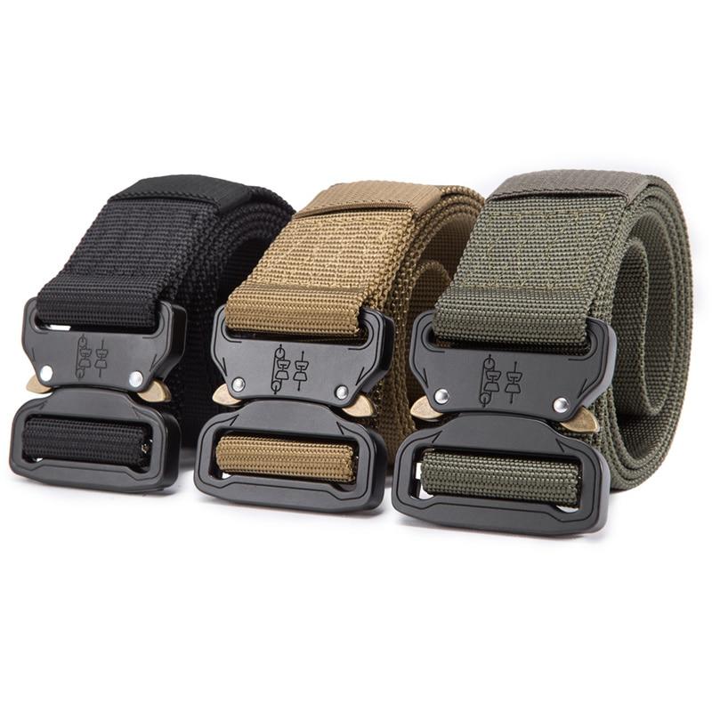 FRALU 2018 Hot Mens Tactical Belt Military Nylon Belt Outdoor multifunctional Training Belt High Quality Strap ceintures 19