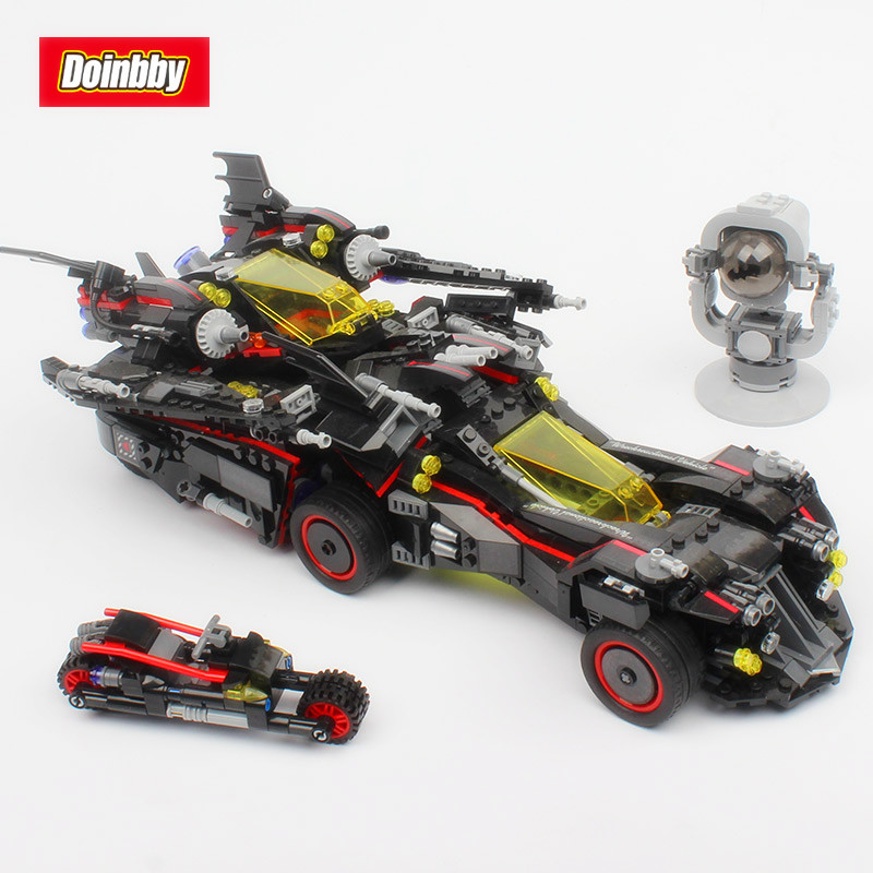 Bela 10740 The Ultimate Batmobile Bat Motorcycle Fighter Batman Movie Building Block Toys Compatible Legoings Batman 70917