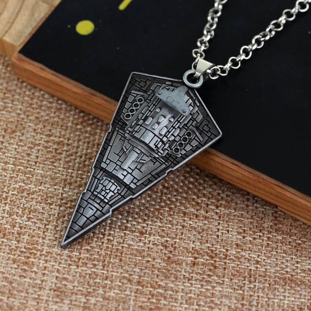 Star Wars Destroyer Ship Model Metal Necklace