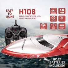 2018 new remote control boat toy 2 4g 4ch waterproof 28km h mini rc boat summer water toy gifts long control distance rc boats Tkkj H106 28km/h High Speed Racing Boat 2.4g 2ch 150m Remote Control Distance Mode Switch Self Righting Rc Boat Toy For Children