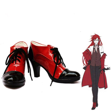 Cosplay-Shoes Boots Custom Grell Sutcliff Black Butler Anime Customized-Size:please Inform