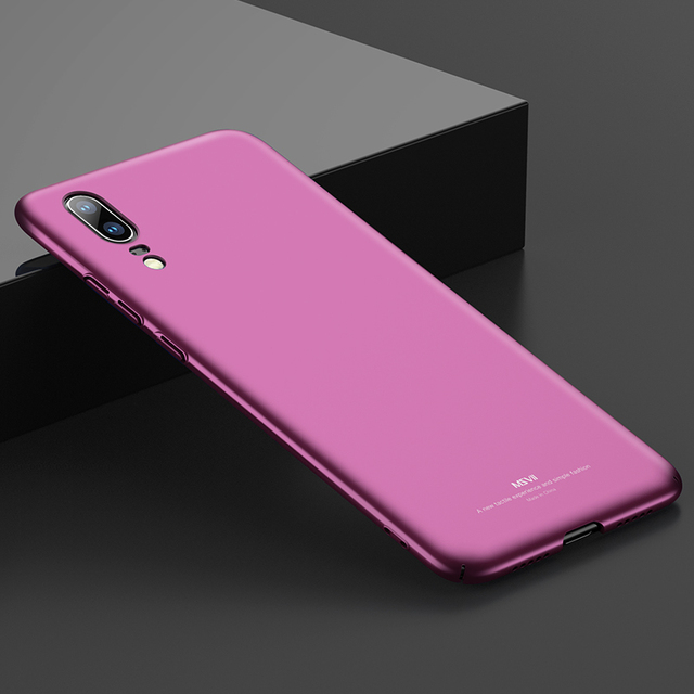 new concept 7eb3e 7a0f5 US $6.88 28% OFF|Huawei P20 Case Huawei P20 Pro Case Cover Original MSVII  Luxury Back Cover For Huawei P20 P20 Pro Micro Scrub Thin Hard PC Cases-in  ...