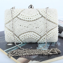 Explosion Models 2016 New Fashion High Quality Evening Bags Handmade Bag Pearl Banquet Wedding Shoulder Bag Diamond Evening Bags