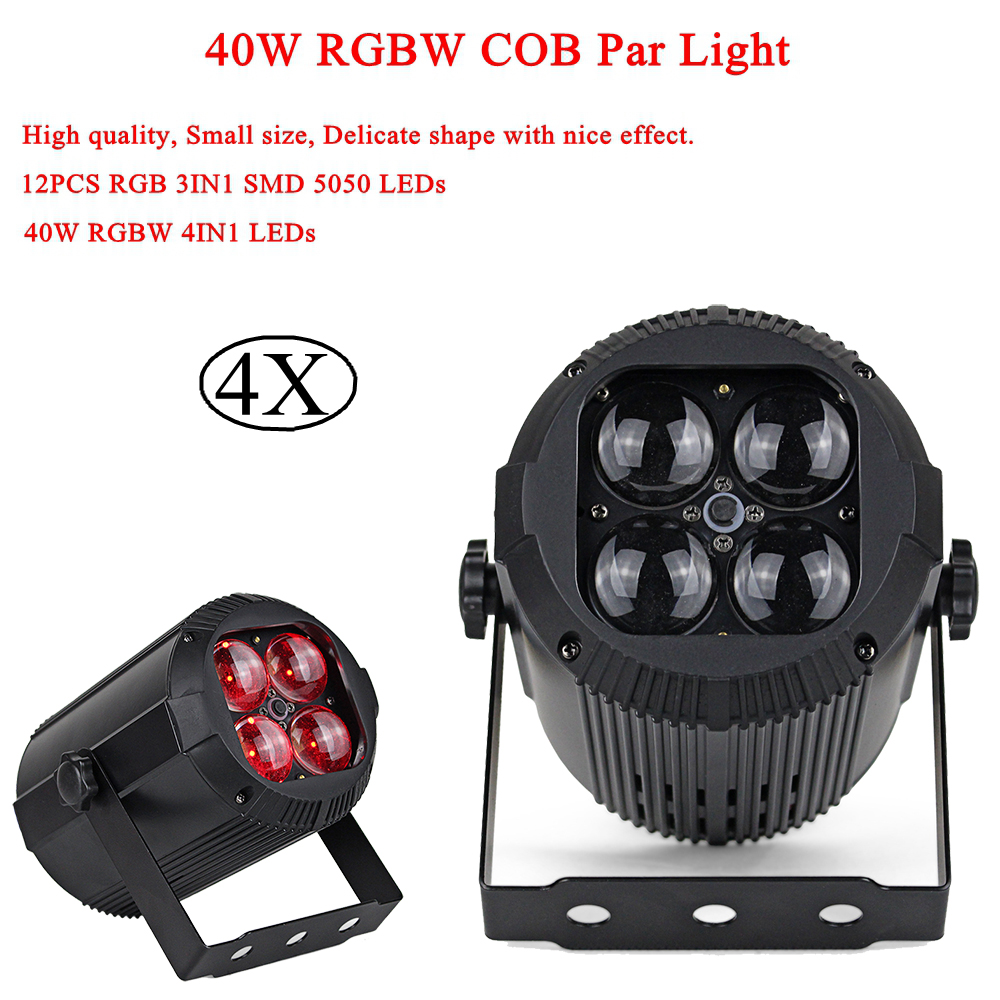 4Pcs/Lot LED Par Lights 40W RGBW 4IN1 LED Light With 12PCS RGB 3IN1 SMD 5050 LEDs Stage DJ Disco Light DMX Led Par Party Lights 4Pcs/Lot LED Par Lights 40W RGBW 4IN1 LED Light With 12PCS RGB 3IN1 SMD 5050 LEDs Stage DJ Disco Light DMX Led Par Party Lights