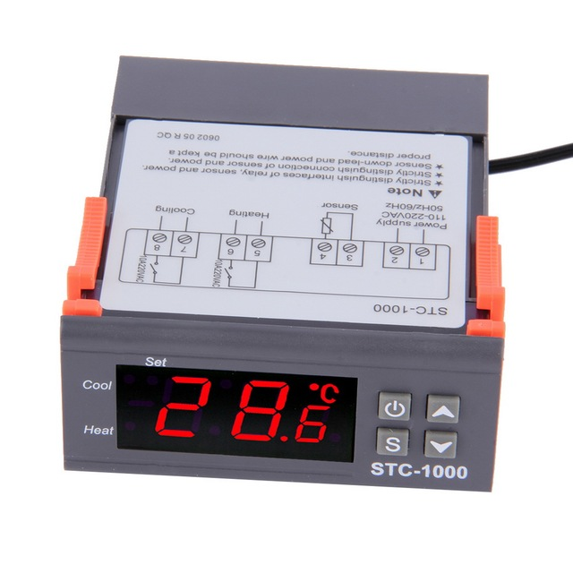 STC1000 Temperature Regulator Thermostat Aquarium Incubator Cold Chain Thermometer Wholesale Laboratories Temperature Controller