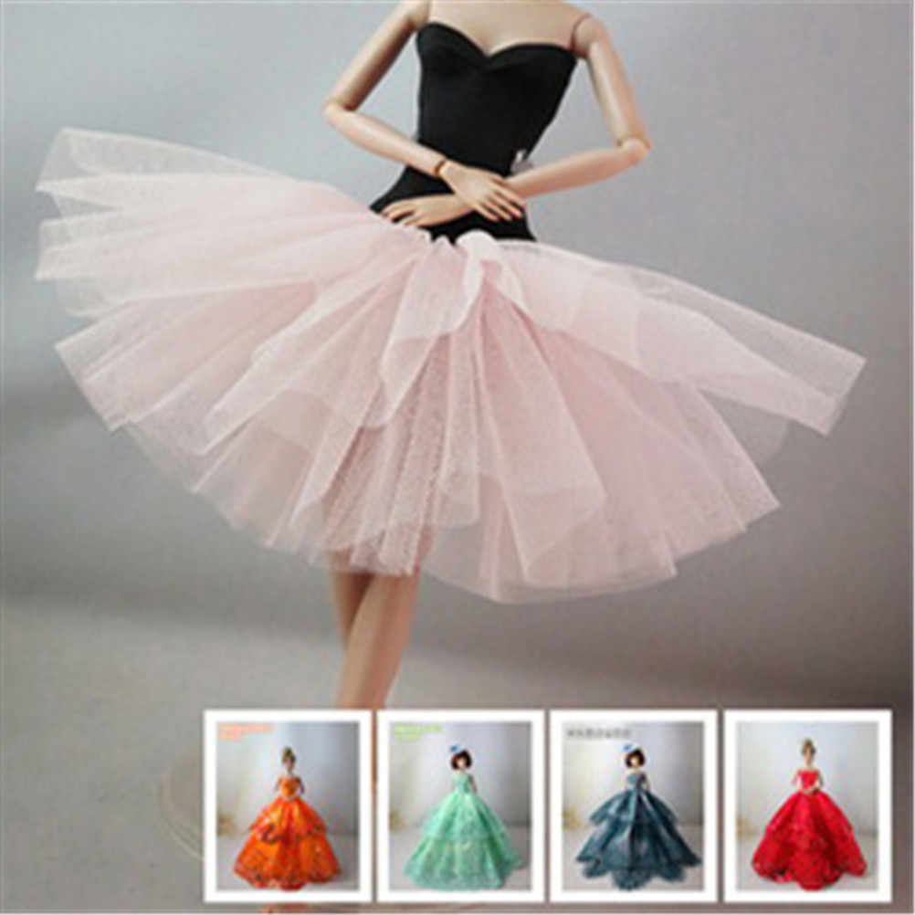Wedding Dress Party Gown Princess Cute Outfit Clothes Doll Girls' Gift Baby Toys One Piece