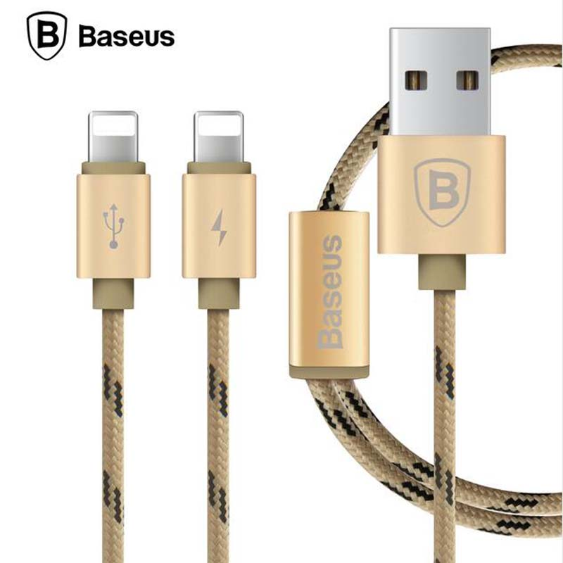 Baseus2 In1 Dual Pin For Lightning To Usb Cable For IPhone 7 6 6s 5s If