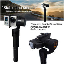 Free shipping!Xiaoji JJ JJ-3 3-Axis Camera Handheld Gimbal Gyroscope Stabilizer for GoPro Hero 3/ 3+/ 4