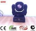 60 Вт LED Spot Перемещение Головного Света/США Luminums 60 Вт LED DJ Spot свет 60 Вт гобо перемещение головы огни супер яркий LED DJ Spot свет