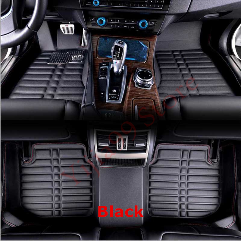 Black 3D Car Floor Mats FloorLiner For Honda Fit Jazz 2014 2015 2016 2017 2018 Auto Waterproof Front & Rear carpet Mat Rugs